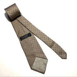 Dior Accessories - Christian Dior Brown tie -Geometric Pattern 58Lx3W